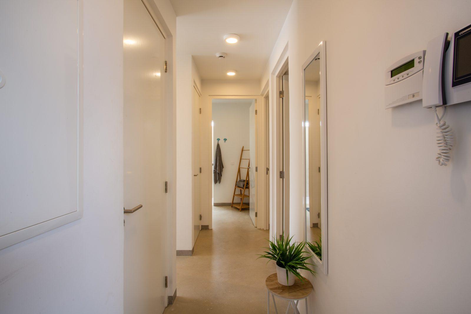 Entree van het appartement